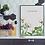 Thumbnail: Peonies on dark grey, white or pale grey 'set of three' Botanical Art Prints