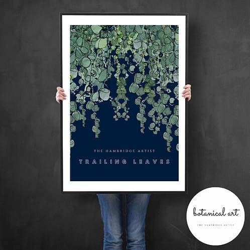 Classic 'Trailing Leaves' (2020) Botanical Art Print