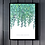 Thumbnail: NEW Trailing Leaves (2021) on White Linen Botanical Art Print