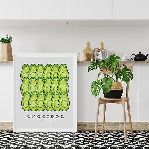 Avocados Tropical Art Print