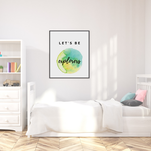 'Let's Be' Art Print (Multiple Options / personalisation)