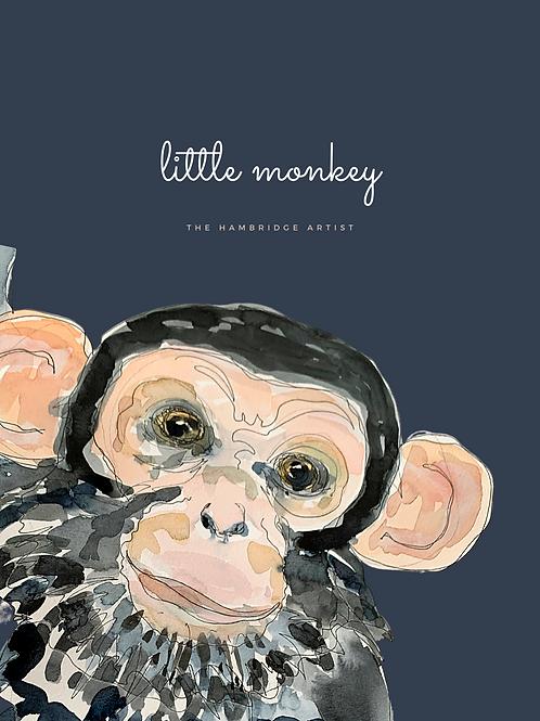 Little Monkey Art Print