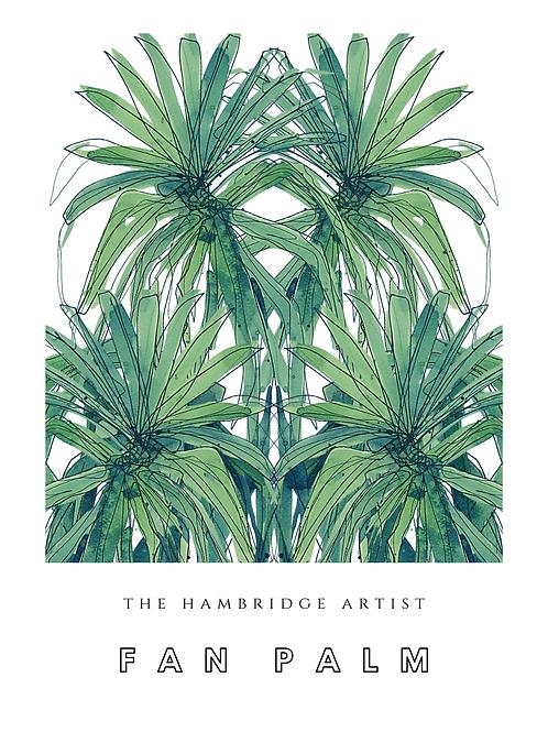 'Fan Palm' Art Print- size 60.5 cm x 91 cm