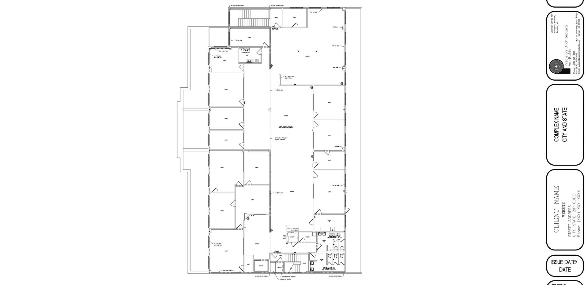 Upper Level Floor Plan A1.3