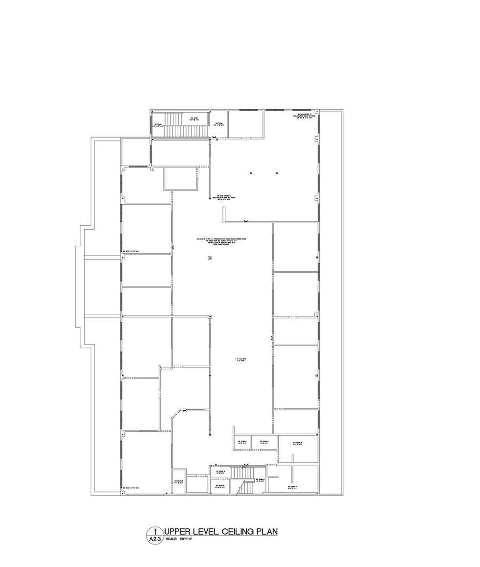 Upper Level Ceiling Plan A2.3