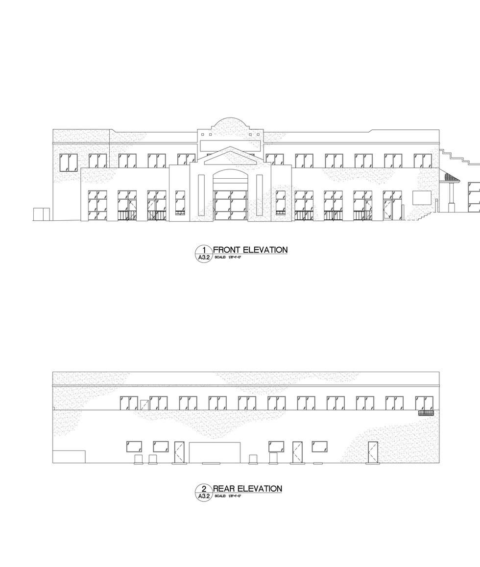 Front and Rear Elevations A3.2