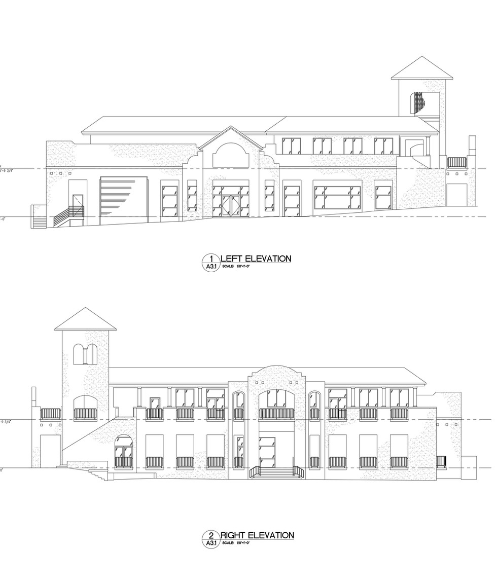Left and Right Elevations A3.1