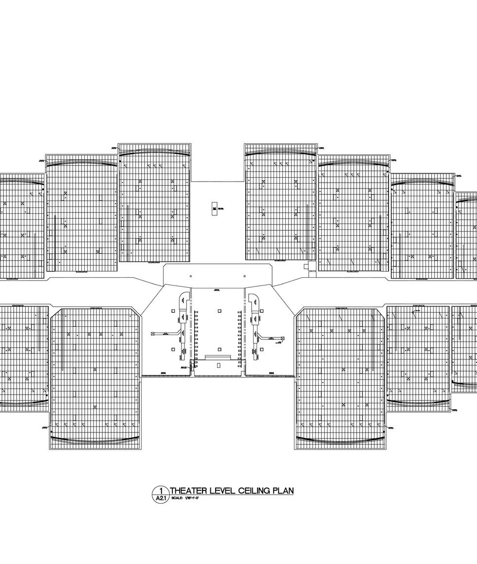 Theater Level Ceiling Plan A2.1
