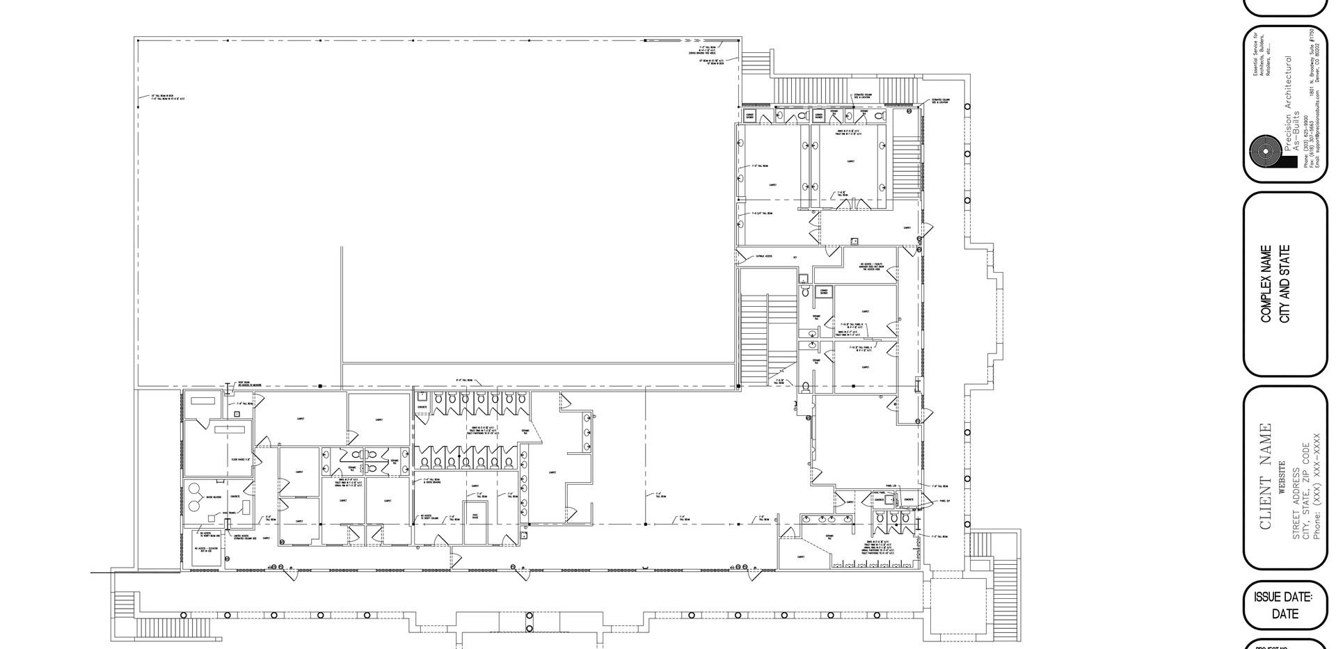 Upper Level Floor Plan A1.1