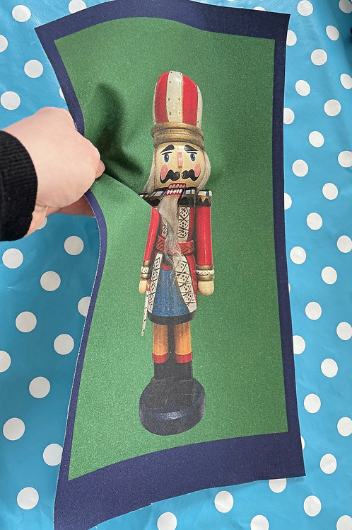 Nutcracker Printed Fabric Embroidery Pattern