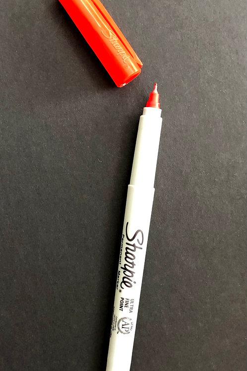 Red Ultra Fine Liner Sharpie Pen x 1