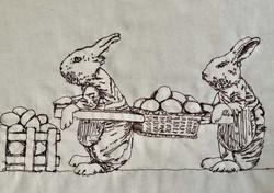 Bunny Rabbits Easter 2019 Sepia