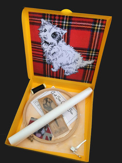 Freehand machine embroidery terrier kit