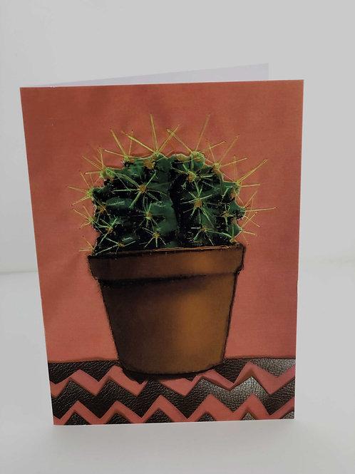 Cacti Greetings Art Card