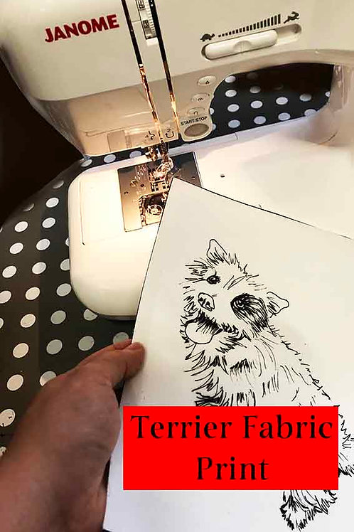 Freehand Machine Embroidery  or Hand Embroidery Fabric Print Pattern