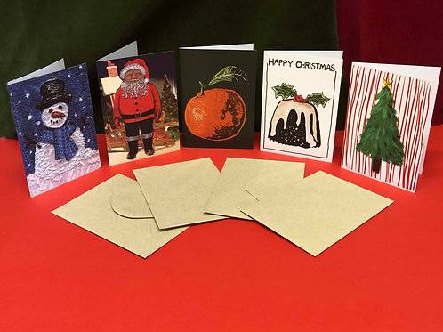 Christmas Card Pack of 5 Cards Designed by Stacey