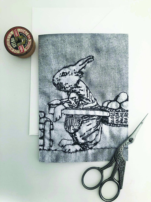 Bunny Easter Greetings Card