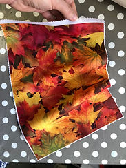 Autumn Leaves printed background for emb