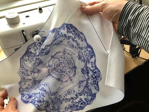 Ornate Plate Design Fabric Print - Large