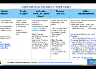 Weekly Mathematical Menu