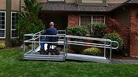 Aluminum Wheelchair Ramp, Wheelchair Ramp, Installed