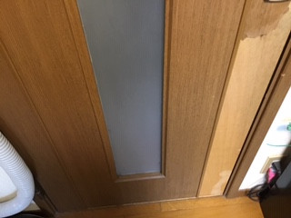 草加市 氷川町 ガラス修理