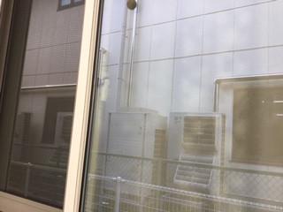 八潮市 二丁目 ガラス修理後