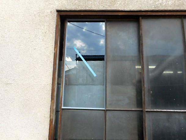 八潮市 浮塚 ガラス修理後