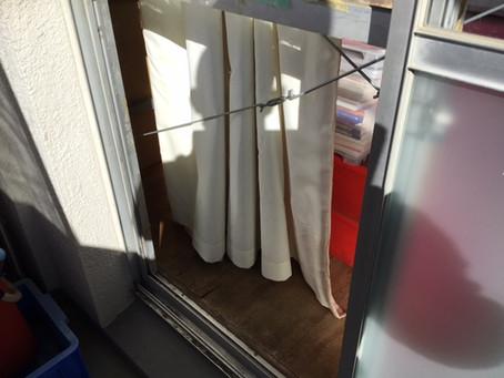 三郷市 三郷アパートの掃き出し窓ガラス修理・交換