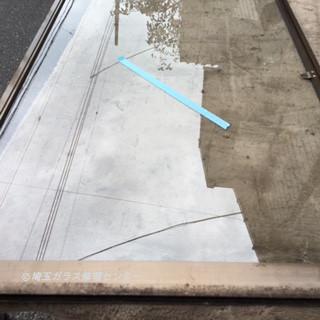三郷市 花和田 ガラス修理後