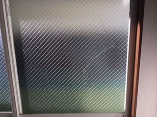 さいたま市 南区 文蔵 ヒビガラスの修理・交換