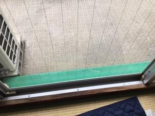 八潮市 大曽根 網入り透明ガラスの修理・交換