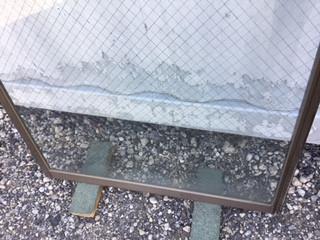 三郷市 三郷ガラス修理前