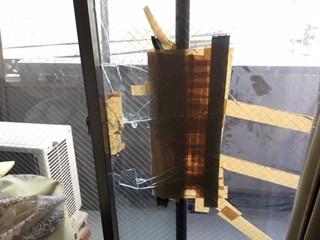 三郷市 三郷 マンションの窓ガラス修理ご依頼