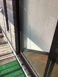 三郷市 三郷 網入り透明ガラスの修理・交換