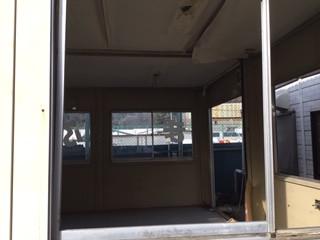 八潮市 木曽根のガラス修理前