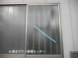 ガラス修理後