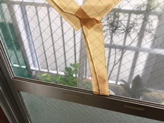 草加市 新里町 ガラス修理前の写真
