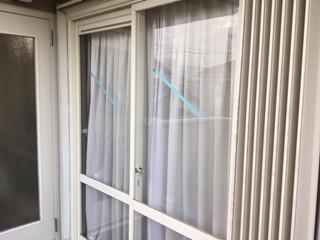 さいたま市 浦和区 神明 ガラス修理後