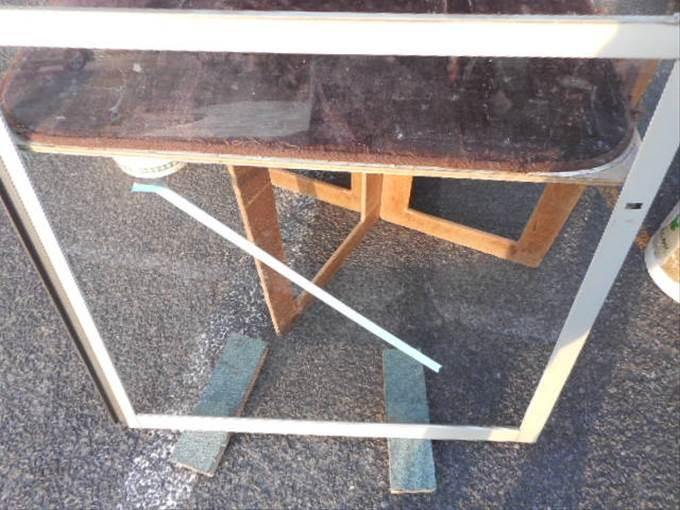八潮市ガラス修理後