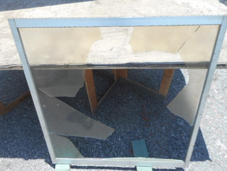 川口市 西青木のヒビガラス修理・交換