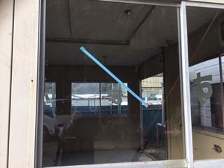 八潮市 木曽根 ガラス修理後