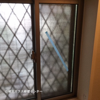 川口市 赤山 ガラス修理後