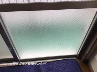 戸田市 下前 ガラス修理後