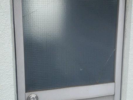 川口市 安行根岸料 屋上ドアのガラス修理・交換