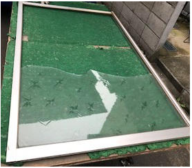 越谷市 神明町 窓ガラス修理・交換