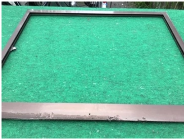 三郷市 栄町 工場の腰高窓ガラス修理・交換