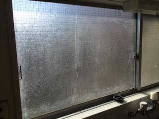 吉川市 新栄 腰高窓のガラス修理・交換