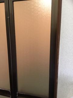 八潮市 鶴ケ曽根 ガラス修理後