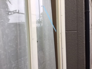 草加市 原町のガラス修理後